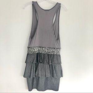 Body Central Dresses - Gray Sleeveless Banded Ruffled Mini Dress Size L